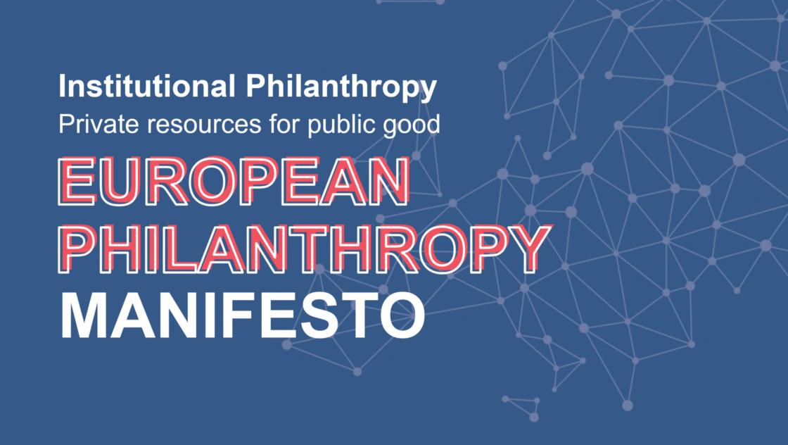 European Philanthropy manifesto calling for a single market for Philanthropy